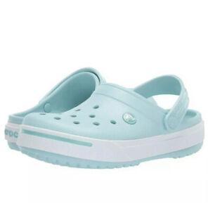 NWT New Crocs Crocband II 11989-4JA Ice Blue Women's Size 9 Mens sz 7 Fast Ship!