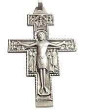 CROCEFISSO  DI SAN DAMIANO IN ARGENTO MASSICCIO 925 - MISURA GRANDE