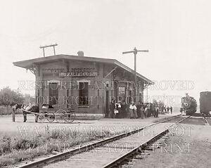 1907 Fairfield Illinois IL train RR station depot photo 5x7 or requst digital CD