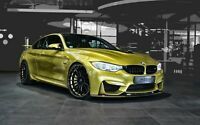 BMW M4 Sports Car Black Rim Canvas Wall Art 20x30 INCHES