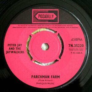 """PETER JAY JAYWALKERS Parchman Farm 7"""" Joe Meek RGM Piccadilly7N 35220 NM! 1965"""