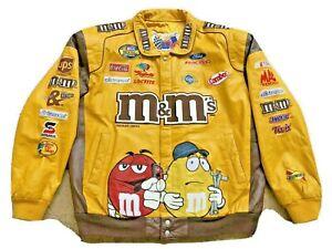Vintage JEFF HAMILTON RACING Leather Racing M&M's, Ford, Coca Cola Jacket sz 3XL