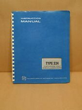 TEKTRONIC TYPE 524 OSCILLOSCOPE SERVICE MANUAL