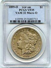 C7238- 1899-O VAM-32 MICRO O TOP 100 MORGAN DOLLAR PCGS VF35