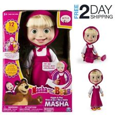 Talking Doll Masha And The Bear 12 Inch Feature Interactive Singing Toy Play Rus