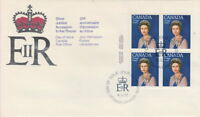CANADA #704 25¢ QUEEN ELIZABETH II SILVER JUBILEE UL PLATE BLOCK FIRST DAY COVER