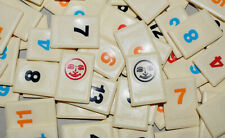 Rummikub Deluxe Board Game Replacement Tiles Craft Pieces Parts 1997 Pressman