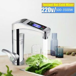 3500W Fast Heating Electric Kitchen Bathroom Instant Hot Water Heater Faucet Tap