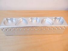 """Metal Silver Valentine's """"Love Makes Every Day Sweeter"""" 5 Heart Tea Light Holder"""