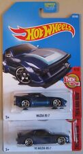 Hot Wheels Then and Now 1st Gen. MAZDA RX-7 & '95 MAZDA RX-7 blue