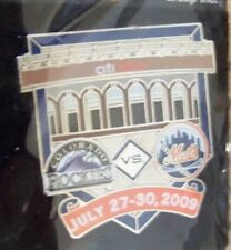 2009 CitiField 1st Colorado Rockies vs Ny Mets lapel pin
