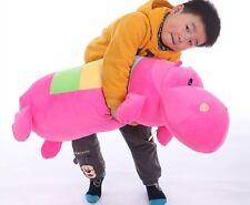 Plush 28'' Rainbow Hippo Stuffed Animal Doll Hold Pillow Cushion Soft Toy Gift