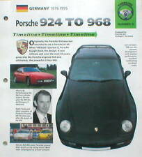 Porsche 924-968 Timeline History Brochure; 944,968,CARRERA,GTS,GTR,TURBO,S,RS,