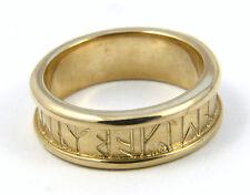 Ola Gorie Orkney Runic Alianza 9 Ct Oro Amarillo En Caja Escocesa