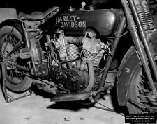 VINTAGE HARLEY MOTORCYCLE POSTER 11x14 / Issued by Flash Productions, LLC