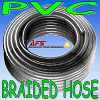 """8mm 5/16"""" REINFORCED PVC HOSE CLEAR TUBING WATER FUEL 1"""