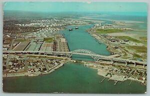Corpus Christi Texas~Corpus Christi Harbor Bridge~Vintage Postcard