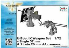 CMK MPM U-Boot IX Weapon Set - Single & 2 twin cannons 1:72 Bausatz Kit N72018