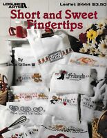 Short and Sweet Fingertips Cross Stitch | Leisure Arts 2444
