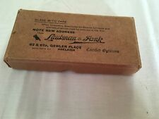 VINTAGE 1933 LAUBMAN & PANK Adelaide OPTOMETRIST SPECTACLE GLASSES REPAIR BOX