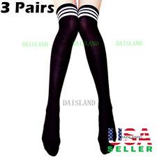 3 Pairs Fashion Women Plus Size Stockings Socks Pattern Tights Pantyhose Sheer