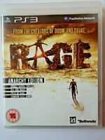 Rage: Anarchy Edition (Sony PlayStation 3, 2011, PS3, Region Free, Game, Manual)