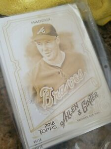 #d/10 GREG MADDUX 2018 Topps Allen & Ginter's 5x7 Braves Perfect for autos