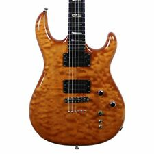Used USA Carvin DC-127 Electric Guitar Natural Quilt Top