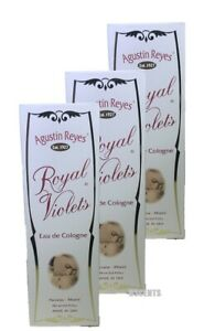 Royal Violets Agustin Reyes 5 oz Eau de Cologne Glass Bottle (Pack of 3)