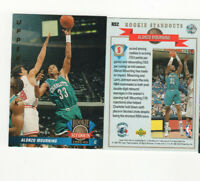 1992/93 Upper Deck Rookie Standouts Alonzo Mourning Rookie Insert Card #RS2