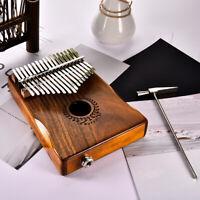 17 Keys EQ kalimba Acacia Thumb Piano Link Speaker Electric Pickup W/ Bag Cable
