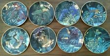 Lenox Miracles of the Rainforest Plates 8 Birds Toucans Macaws Parrots Collector