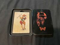 NEW SEALED DECK PLAYING CARDS WESTWORLD LOOT CRATE IN TIN WEST WORLD