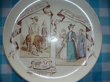 Assiette Creil et Montereau - Signe du Zodiaque - Bélier - âne
