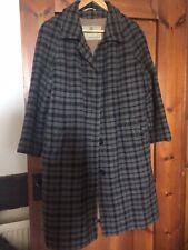 "AQUASCUTUM Vintage long Single Breast Tweed Overcoat Coat Wool Lined Chest  42"""