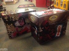 3 HARLEY QUINN & 2 DEADPOOL ART SHORT BOX CASE Comic Book Storage DC Marvel NEW