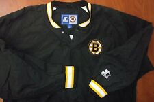 Vintage Rare Starter NHL Boston Bruins Hockey Stitched Pullover Nylon Jacket L
