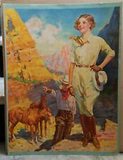 **Vintage THE GIRL OF THE GOLDEN WEST Poster**