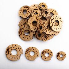 Wooden MDF Shapes Crafts Donut Scrapbook Embellishments Decoration Card Making