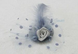 Flower Hair Clip Lace Feather Small Mini Top Hat Fascinator Ascot Race Party New