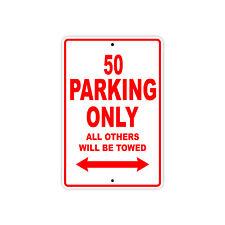 KTM 50 Parking Only Towed Motorcycle Bike Chopper Aluminum Sign