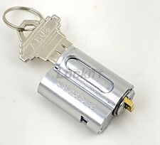 ABUS 83 series Cylinder Zero Bitted Schlage profile Chrome Plated