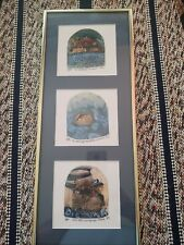 Noah's Ark Bill & Linda Neely PTL Etching Relief Framed Etchings (3) RARE