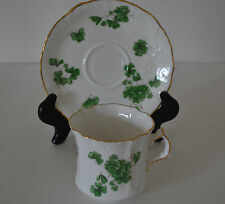 HAMMERSLEY LUCKY SHAMROCK FINE BONE CHINA CUP WITH SAUCER