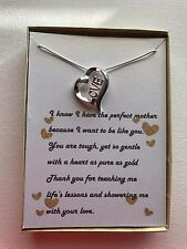 Love Pendant Necklace with poem for a mother