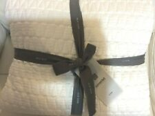 Gramercy West Elm  King Quilted Coverlet NWT! Pearl Ivory