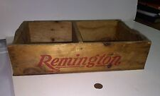 "Antique Wooden Box "" Remington 12 Ga. Slug"" Advertising In Red & Green All 4side"