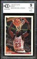 1993-94 Topps Gold #23G Michael Jordan Card BGS BCCG 9 Near Mint+