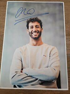 DANIEL RICCIARDO HAND SIGNED A4 PICTURE FORMULA 1 F1 MEMORABILIA  McLAREN F1