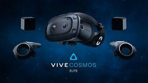 HTC Vive Cosmos Elite Full Kit - Black, Plastic, Barely used